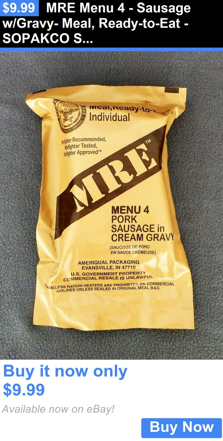Food And Drink: Mre Menu 4 - Sausage W/Gravy- Meal, Ready-To-Eat - Sopakco Survival Food Storage BUY IT NOW ONLY: $9.99