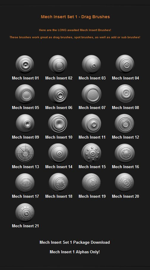 Free Custom Zbrush Brushes - Page 5