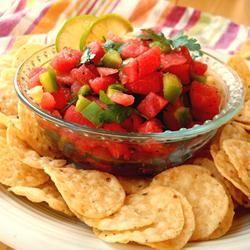 Watermelon Fire and Ice Salsa Allrecipes.com