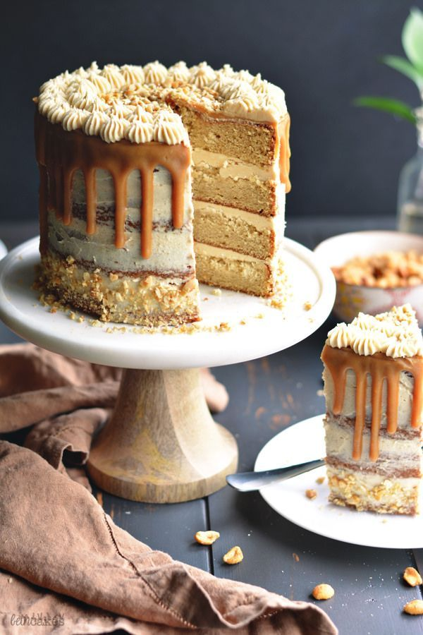 Sorry it's been a little quiet around these parts recently, y'all. But I think I've found a way to make it up to you. There is peanut butter involved. Four layers of moist peanut …