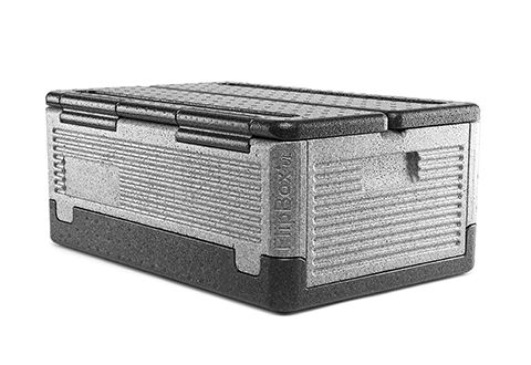 The lightweight, portable container that keeps hot food hot and cold food cold, without heat packs or ice. Thanks to industrial-strength Neopolen® P construction and an award-winning German design, the Iceless Cooler seals tight to store food safely for hours. Great for beaches, picnics, catering or the trip home after grocery shopping. When you're done, disassemble the cooler and wash in the dishwasher. Then, fold it flat for easy storage!
