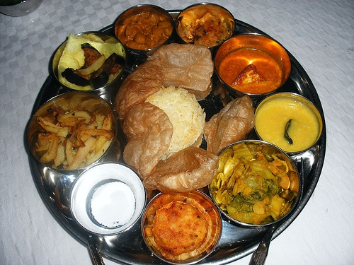 vegetarian bengali thali by tenbon, via Flickr