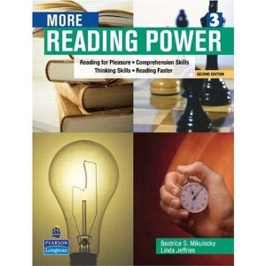 More Reading Power: Reading for Pleasure, Comprehension Skills, Thinking Skills, Reading Faster (Second Edition)...used on Amazon for 1.97! Good book for intermediates to supplement the curriculum.