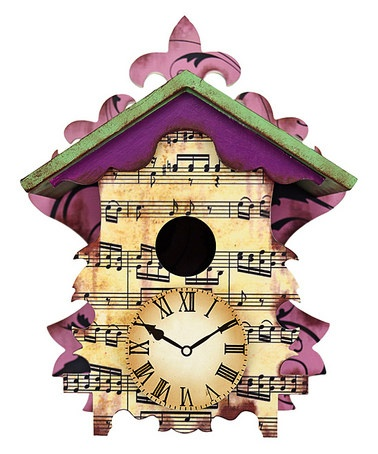 Take a look at this Red Carpet Musical Note Cuckoo Clock  by Backyard Oasis Boutique on #zulily today!