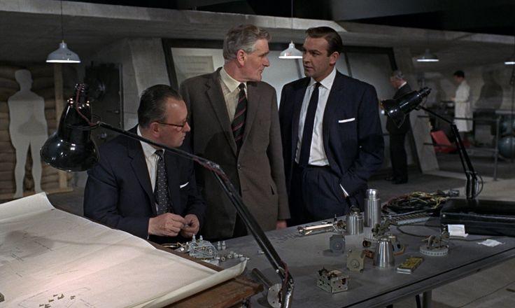 """Do keep up Bond!"" Desmond Llewelyn as Q in Goldfinger."