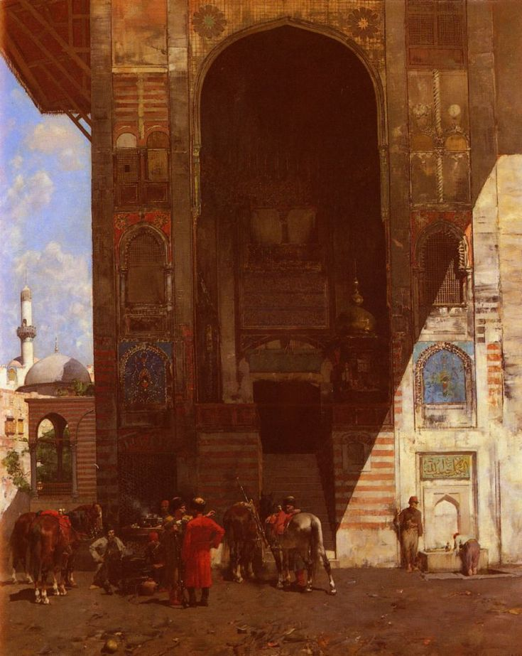 Rest at the Mosque by Alberto Pasini