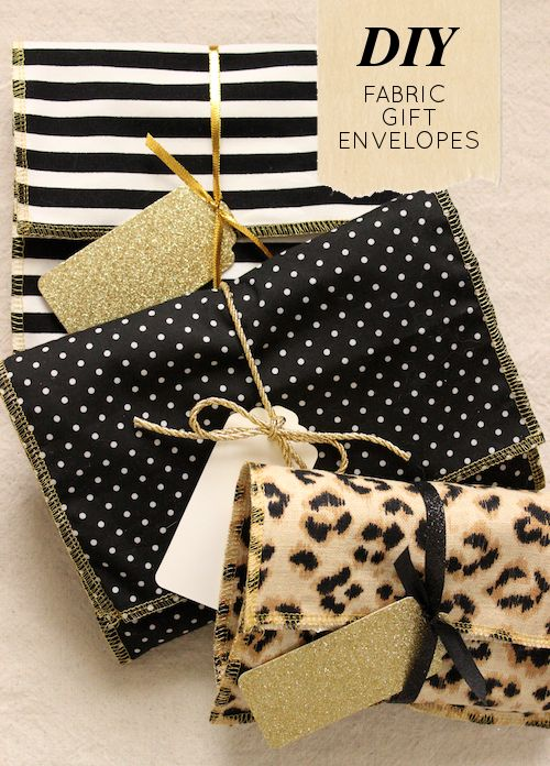 DIY Project: Fabric Gift Envelopes - Design*Sponge
