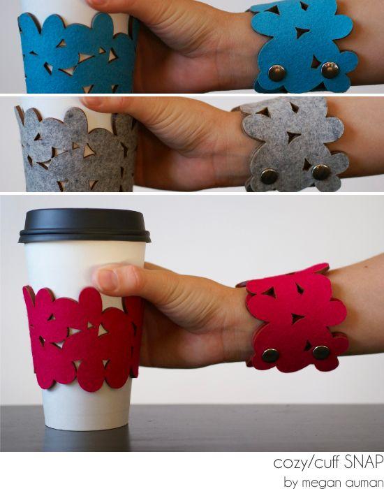 Coffee cup cozy / bracelet