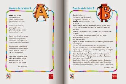 """""""Un cuento para cada letra"""", de la editorial S.M., publicado por primerodecarlos.com, inicia a la lectura comprensiva con pequeños cuentos, uno para cada letra, afianzando así además el conocimiento del abecedario. Para Educación Infantil de 5 años y 1º de Educación Primaria."""