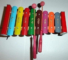 1950's toy Xylophone....I remember having one of these. Loved the sound...mom didn't but I did...lol