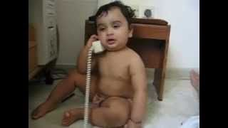 Indian Cute Baby Talking On Phone [Funny Videos 2014]