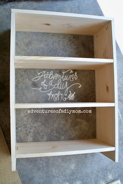 How to Build a Bookshelf - so simple, can even get Home Depot to cut the wood pieces in the exact length you need