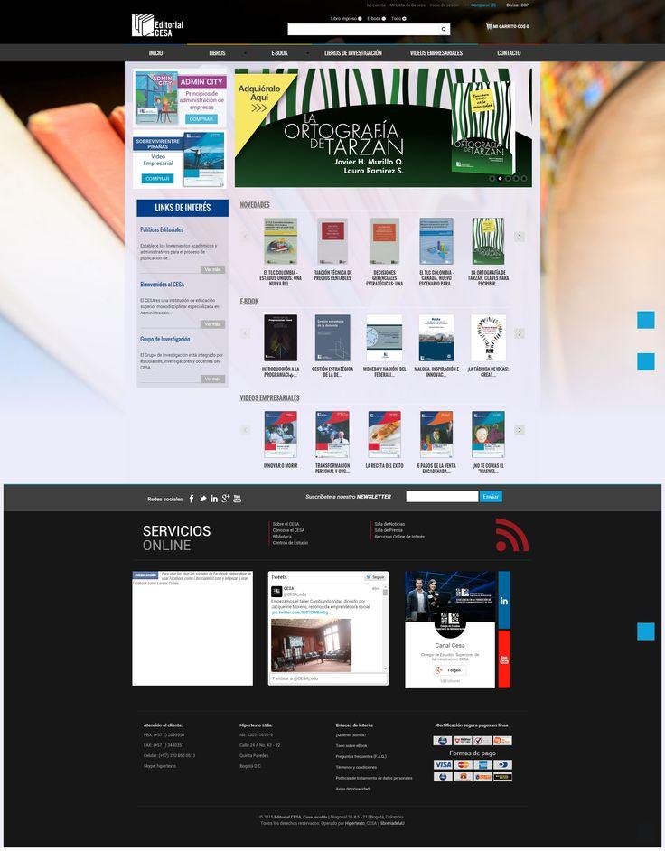 Diseño para LibreriadelaU de multi-tienda CESA