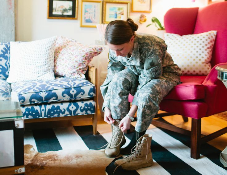 US Army Captain Katie Del Castillos Washington DC Apartment Tour Cute Living RoomLiving Room SofaAcrylic