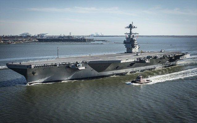Θαλάσσιες δοκιμές για το πιο προηγμένο αεροπλανοφόρο του κόσμου, το USS Gerald R. Ford | naftemporiki.gr