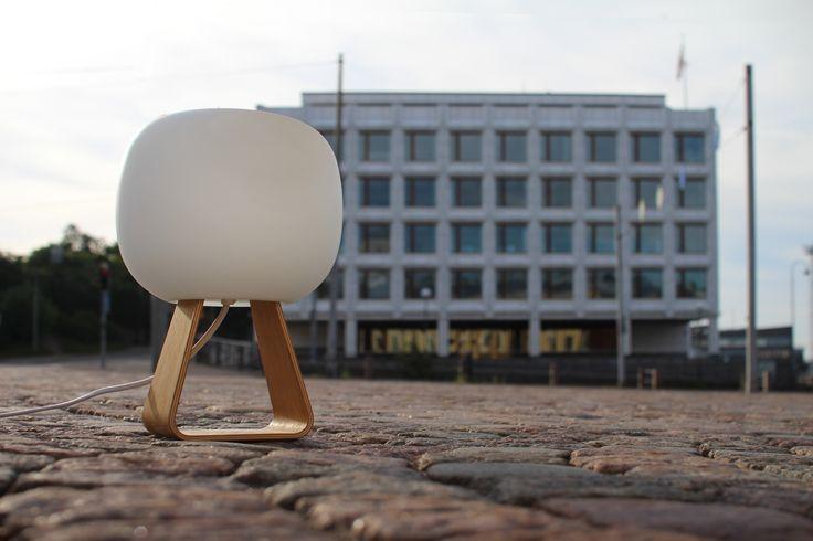 Toad at Helsinki. Building by Alvar Aalto.