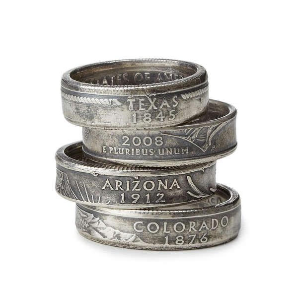 Repurposed Coin Jewelry - The State Quarter Ring Gives Pocket Change a New Purpose (GALLERY)