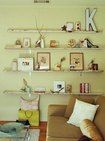 love these floating shelves!