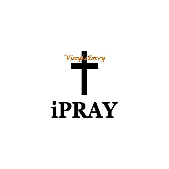 i pray cross decal vinyl decal car decals window decal vinyl letters