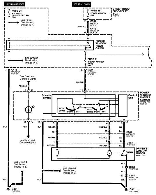 wiring for electric windows 1998 honda crv  Google Search