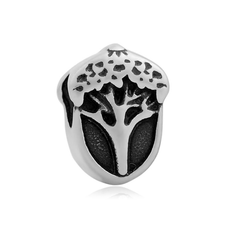 Skyrim 20Pcs Stainless Steel Acorn Beads Fit For Pandora Bracelet The Potential Of The Oak Tree For Jewelry Making #Affiliate