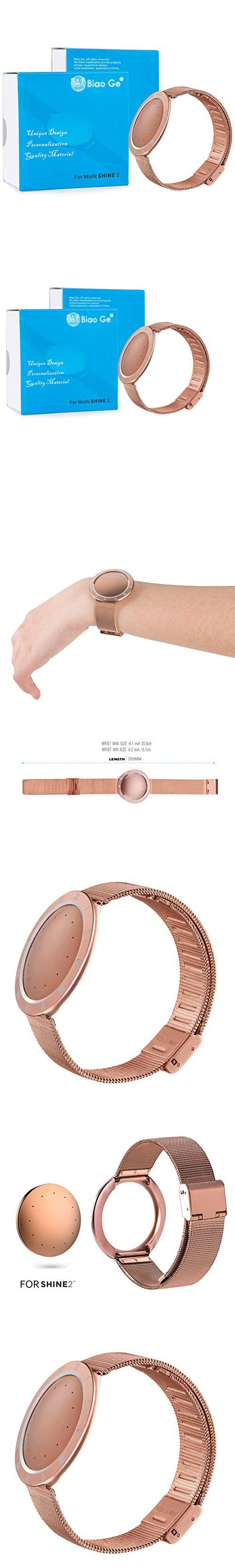 Shine 2 Replacement Band, For Misfit Wearables Shine 2 Fitness Tracker & Sleep Monitor, Biaoge Stainless Steel Mesh Bracelet Strap for SHINE 2 Rose Gold