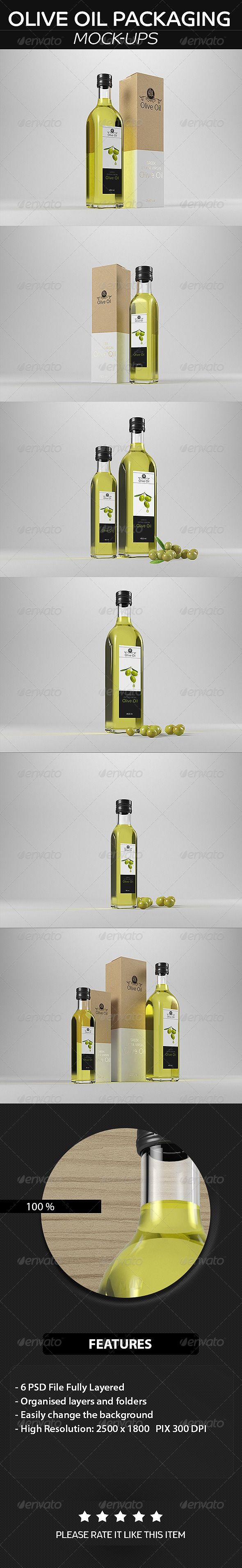Olive Oil Packaging  Mockup — Photoshop PSD #mockup #packaging • Available here → https://graphicriver.net/item/olive-oil-packaging-mockup/8739289?ref=pxcr
