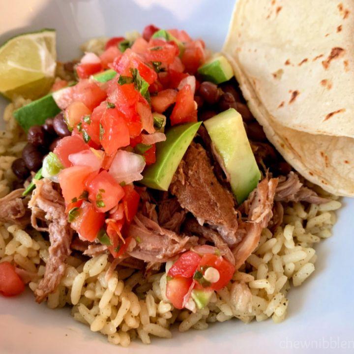 Slow Cooker Jerk Chicken Tacos with Caribbean Salsa in