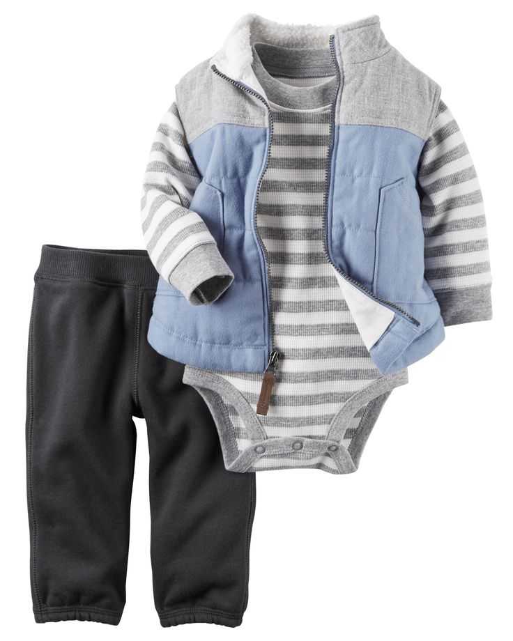 Baby Boy 3-Piece Little Vest Set | Carters.com