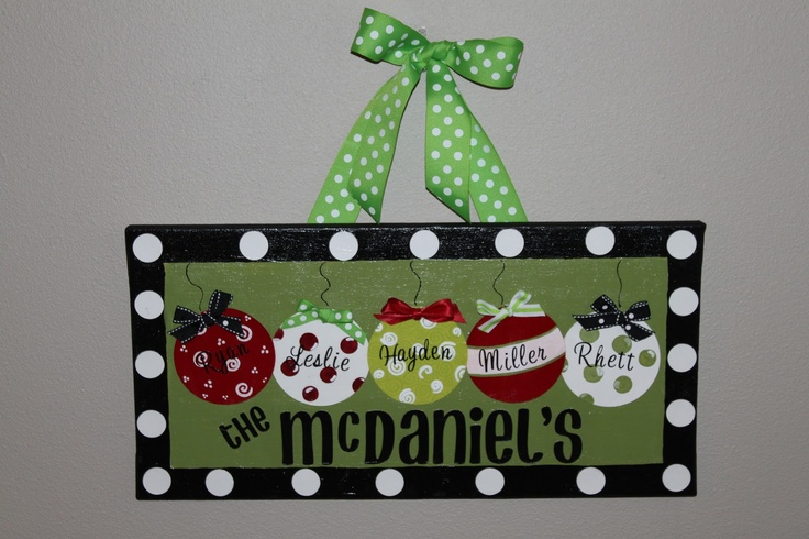Personalized Christmas ornament canvas!