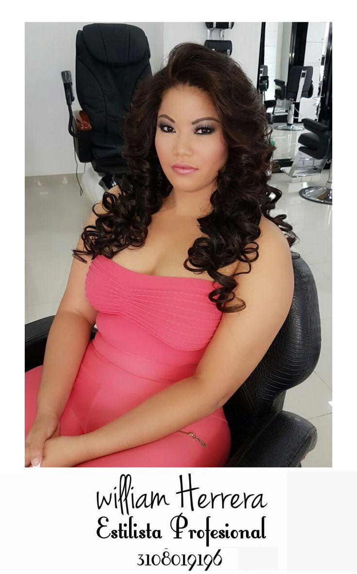 Este es otro ejemplo de ondas que le darán textura frondosa a tu cabello, te perfilará el rostro y te dará un estilo sencillamente hermoso! ¡Ven y llénate de belleza y glamour con William Herrera, Estilista Profesional! #MakeUp #Maquillaje #Belleza #MAC #CaliCo #Cali #Colombia #CaliEsCali #Hermosas #Recogidos #Pro #Estilista #Profesional #Natural #Mujeres #Look #Style