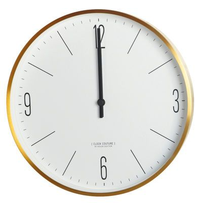 Horloge murale Clock Couture / Ø 30 cm Or - House Doctor - 79€