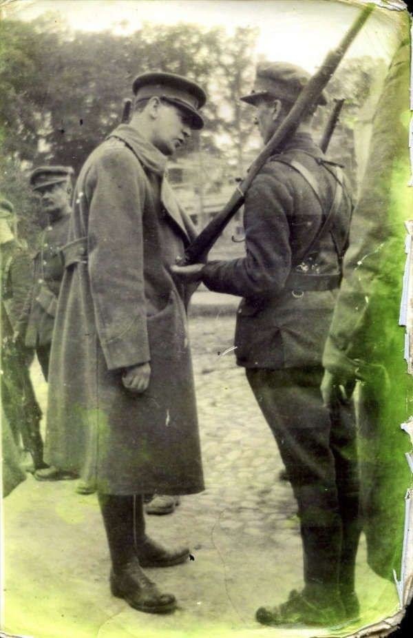 Michael Collins in uniform at Newcastle West, Co. Limerick on the 8th August 1922