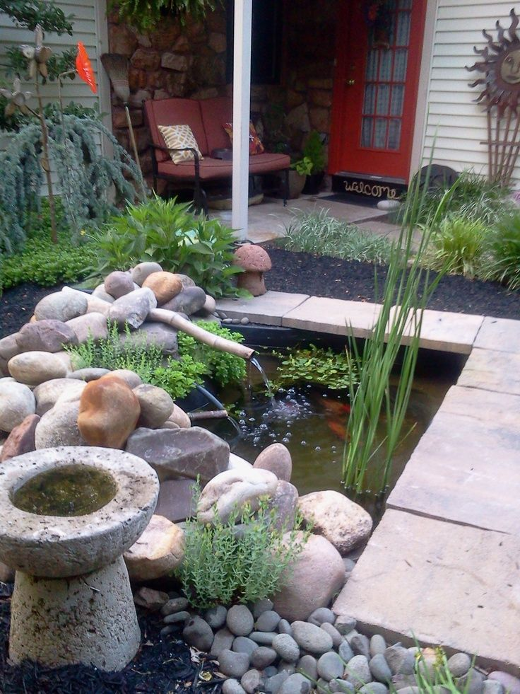 17 Best images about Koi Ponds on Pinterest | Small garden ... on Small Backyard Pond id=21704