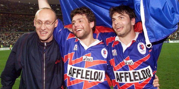 Bernard Laporte, Franck Comba et Christophe Dominici (Stade Français)