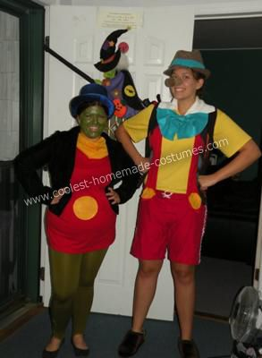 Coolest Pinocchio and Jiminy Cricket Couple Costume 8: Halloween Costumes, Couple Costumes, Cricket Costumes