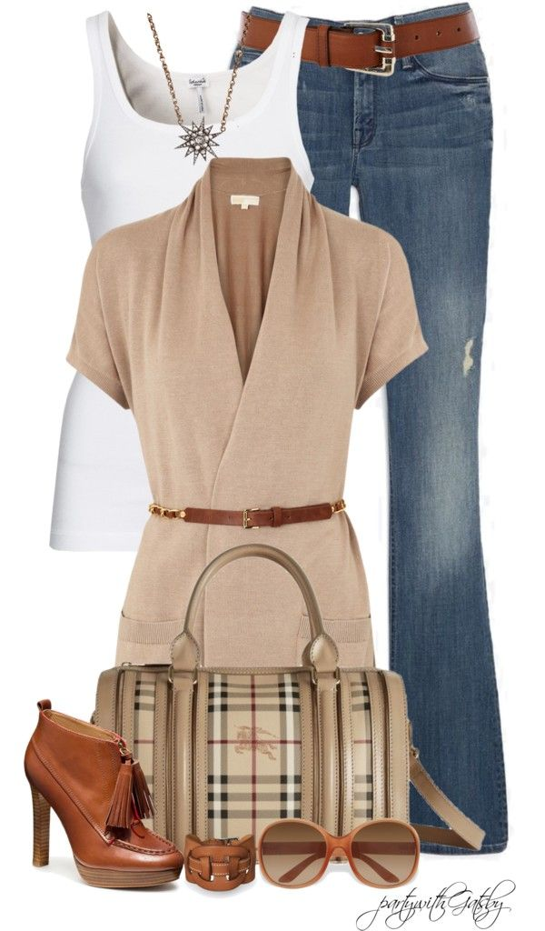 """I'm beginning to see the merits of the belted sweater!   """"Untitled #567"""" by partywithgatsby on Polyvore"""