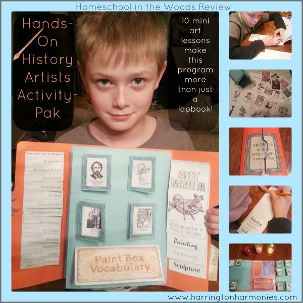 Homeschool in the Woods Review- Hands on Artists Activity-Pak | Harrington Harmonies