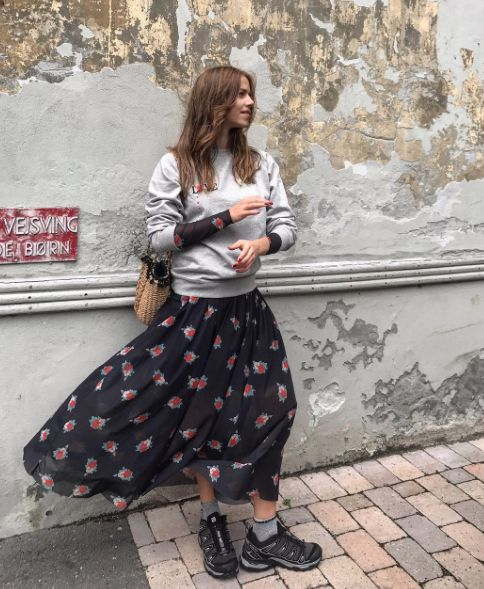 Ganni street style | Trine Kjær | Tilden Mesh Maxi Dress