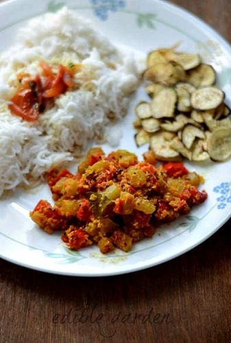 Chow Chow Capsicum Curry Recipe - Easy Chow Chow Recipes