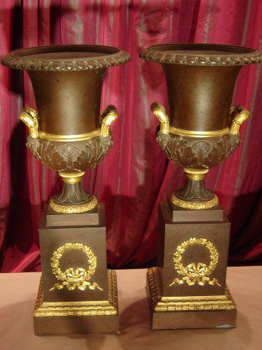 Paire de vases Medicis d'époque Empire