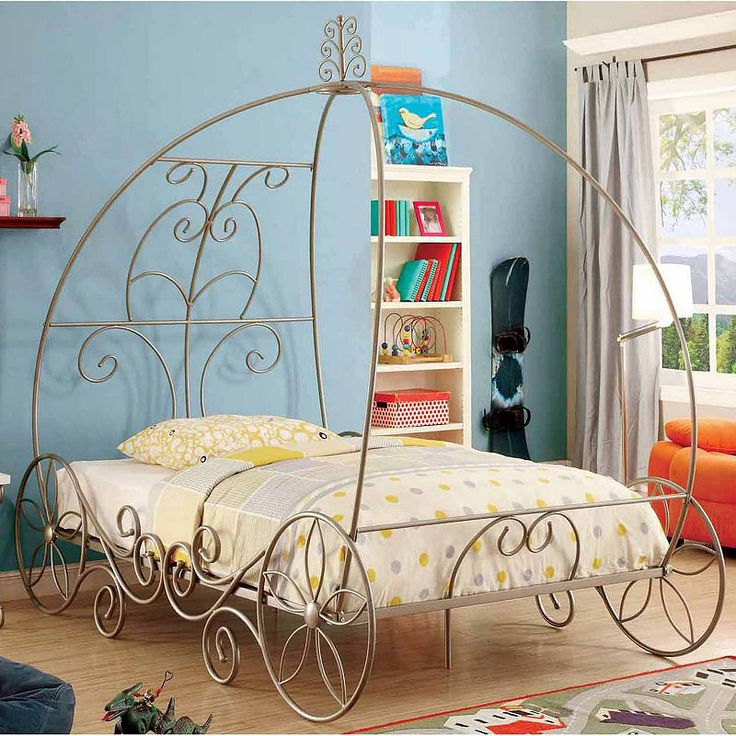 Charmed Carriage Youth Bed Canopy bed frame, Twin canopy