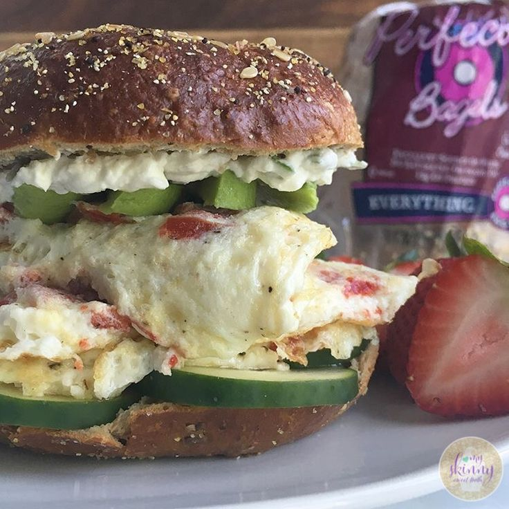 Mediterranean Egg White Breakfast Sandwich | My Skinny Sweet Tooth