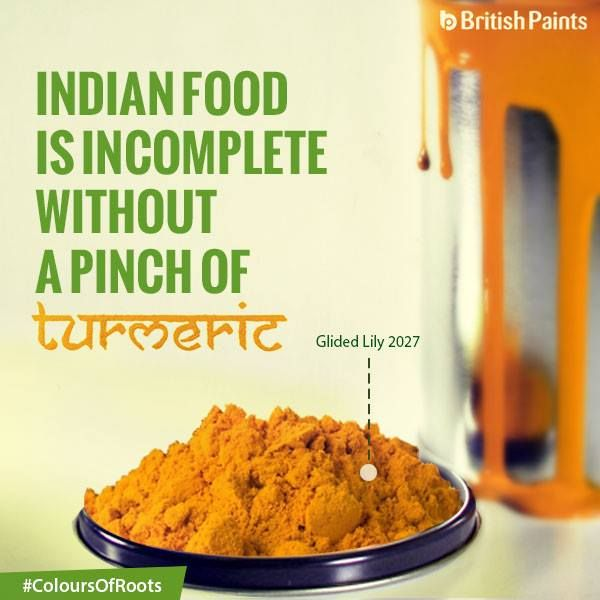 Indian meals are incomplete without a dash of turmeric, just like your home is incomplete without a splash of our fabulous Interior Emulsions! #ColoursOfRoots