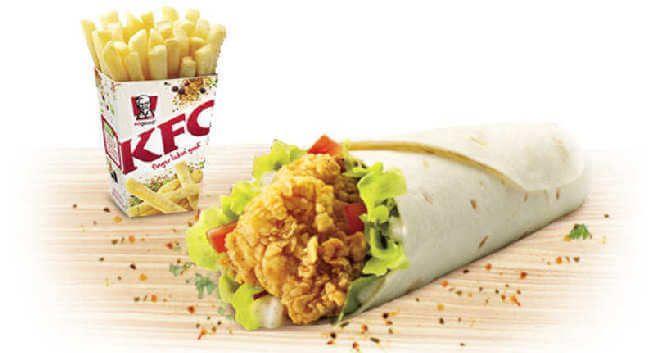 KFC Crispy Twister with Pepper Mayo | The Taste of Aussie