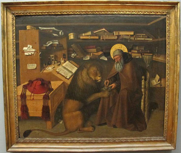 Colantonio, San Girolamo nello studio, 1444, 01. Galleria Napoletana (Museo di Capodimonte).