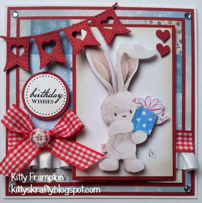 Made for Making Cards Magazine using Bebunni CD Rom.  More info on my blog - http://kittyskrafty.blogspot.co.uk/2014/02/birthday-bunni.html