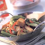 Tofu and Vegetable Stir-fry, Recipe from Cooking.com...no oyster sauce...hoisin instead
