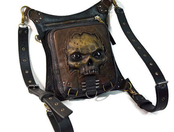 Zombie apocalypse zombie cosplay zombie bag skull by FamilySkiners