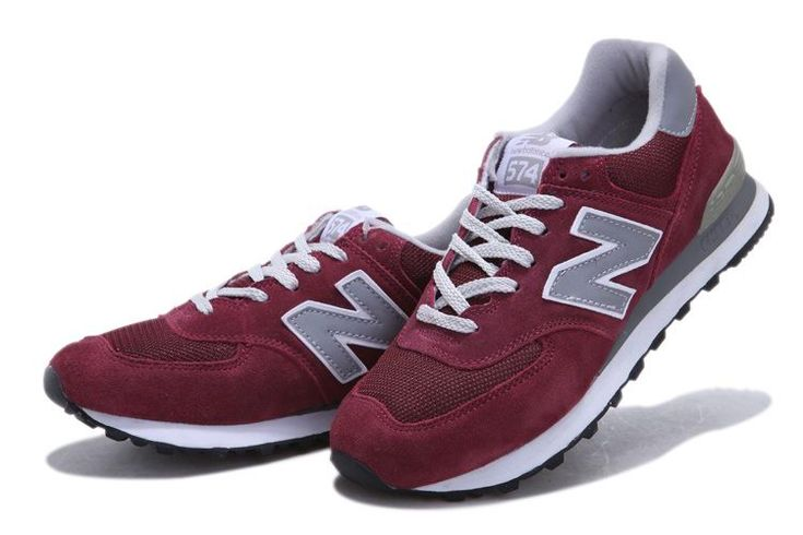 New Balance NB ML574BGD wine Red Grey White For Men shoes